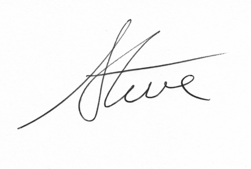 Steve signature new